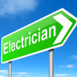 Electrician concept. — Stock Photo