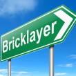 Bricklayer concept. — Stock Photo