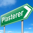 Plasterer concept. — Stock Photo