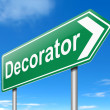 Decorator concept. — Stock Photo