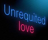 Unrequited love concept. — Stock Photo