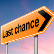 Stock Photo: Last chance concept.