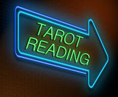 Tarot reading concept. — Stock Photo