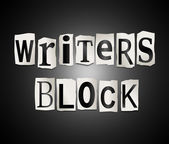 Writers block. — Stock Photo