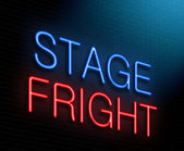 Stage fright concept. — Stock Photo