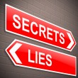 Secrets and lies concept. — Stockfoto