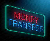 Money transfer concept. — Stock Photo