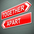 Together or apart concept. — Stock Photo