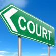 Court concept. — Stock Photo