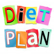 Stock Photo: Diet plan concept.