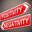 Positive or negative concept. — Stock Photo