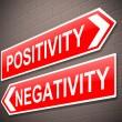 Positive or negative concept. — Stock Photo