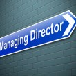 Stock Photo: Managing Director concept.