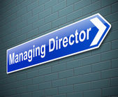 Managing Director concept. — Stock Photo
