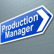 Production Manager concept. — Photo