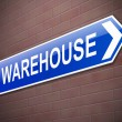 Warehouse sign. — Stock Photo