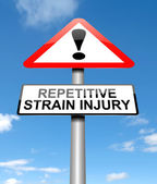 Repetitive strain injury concept. — Stock Photo