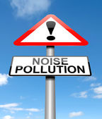 Noise pollution concept. — Stock Photo
