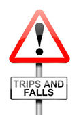 Trip and fall warning. — Stock Photo