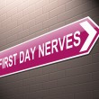 First day nerves concept. — Foto de Stock