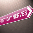 First day nerves concept. — Stock Photo