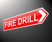Fire drill concept. — Stock Photo