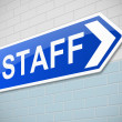 Staff sign. — Stock Photo