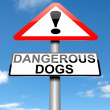 Dangerous dogs concept. — Stock Photo