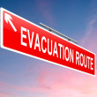 Evacuation route sign. — Stock Photo #34930299