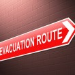 Evacuation route sign. — Stock Photo #34931033