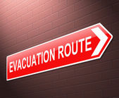 Evacuation route sign. — Stock Photo