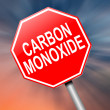 Carbon Monoxide concept. — Stock Photo