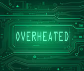 Overheated concept. — Stock Photo