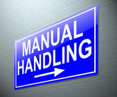 Manual handling concept. — Stock Photo
