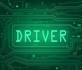 Concetto di driver. — Fotografia Stock