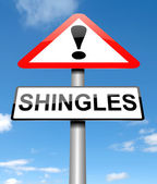 Shingles concept. — Stock Photo