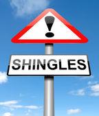 Shingles concept. — Stock Photo
