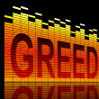 Stock Photo: Greed concept.