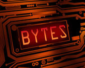 Byte concept. — Stock Photo