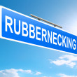 Rubbernecking concept. — Foto Stock