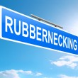 Rubbernecking concept. — Stockfoto