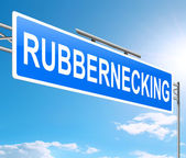 Rubbernecking concept. — Stock Photo