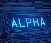 Alpha concept. — Stock Photo