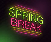 Concetto di Spring break. — Foto Stock