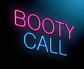 Booty call concept. — Stock Photo