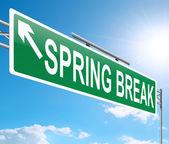Spring Break concept. — Stock Photo
