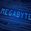 Megabyte concept. — Stock Photo