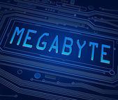 Megabyte concept. — Stock Photo