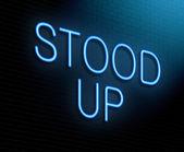 Stood up concept. — Stock Photo
