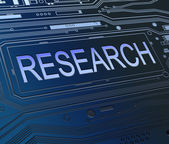 Research concept. — Stock Photo